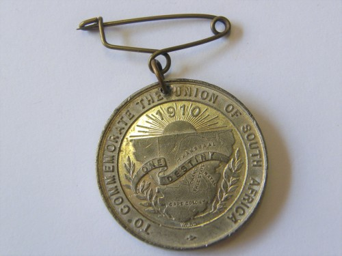 Union of South Africa opening of the first Union Parliament 1910 - Lead medallion
