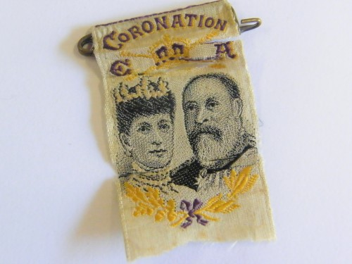 Coronation ribbon for Edward 7 - 1902