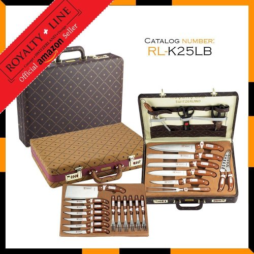 Cookware Sets Royalty Line 25 Piece Knife Set In Leather
