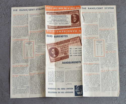 1961 Guide to the rand/cent system - Rarely seen