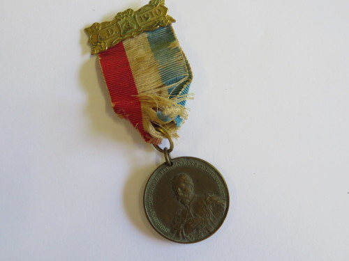 Union of South Africa - George 5 commemoration of opening of parliament 1910 medallion