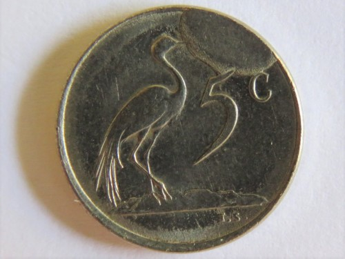 1977 RSA five cent with mint flaw