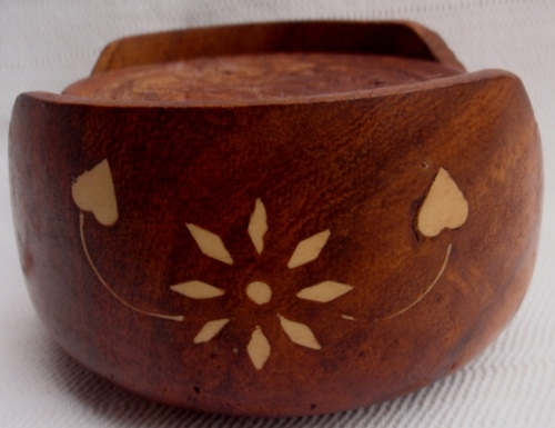 Other Antiques Collectables Lovely Hand Carved In India Set Of 6 Coasters With Bone Inlay Design On Box Good Price Was Listed For R190 00 On 25 Dec At