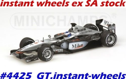 models - mclaren mercedes mp4-16 f1 #3 2001 new+boxed free delivery