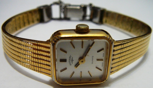 Women S Watches Ladies Gold Coloured Rotary Quartz Watch
