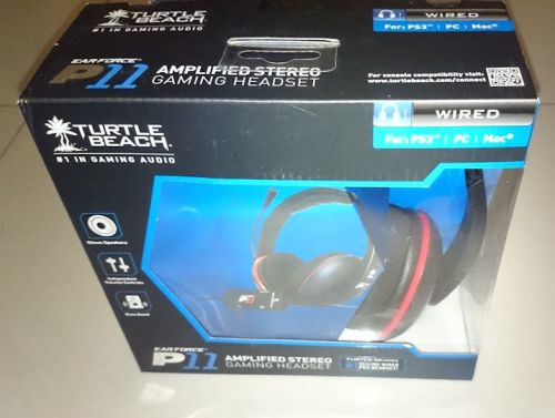 d57e257235a Turtle Beach Ear Force P11 Amplified Stereo Gaming Headset (PS3, PS4. PC,  Mac, etc) + Free BluRay