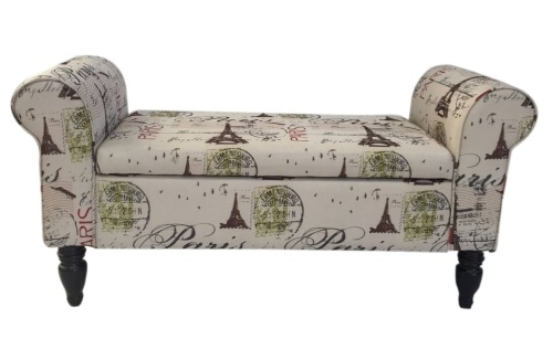 Ottomans Amp Footstools Hazlo Double Chaise Ottoman Bench