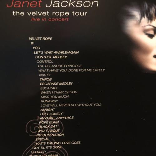 DVD - Janet Jackson The Velvet Rope Tour Live in concert