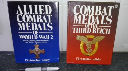 2 Books Allied Combat Medals of World War Two Combat Medals of the Third  Reich Christopher Ailsby
