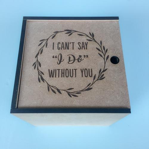 d538c4832d3 Wedding Decorations - Can t Say I Do without you Wedding wooden box ...