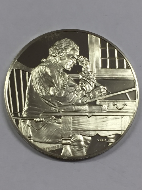 Sterling silver Proof medallion Honoring the USA Bicentennial of Independence 1975 - Weighs 19.4g