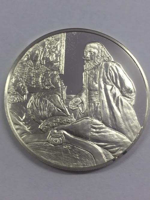 Sterling silver proof medallion Honoring the 200th Anniversary of the birth of Prota Matija Nenadovi
