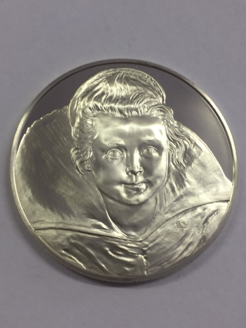 Sterling silver proof medallion honoring the 400th Anniversary of the birth of Peter Paul Rubens