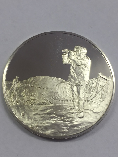 Sterling silver proof medallion honoring the 100th Anniversary of the Birth of Jorgen Bronlund