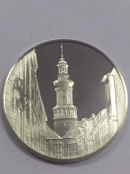 Sterling silver proof medallion honoring the 700th Anniversary of Sopron, Hungary 1977
