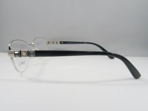 7842ac606a25 Versace MOD 1230-B 1000 Black/Silver/Crystal New Authentic Eyeglasses 52mm  Case