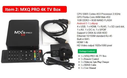 Digital Media Players Streamers Ott Tv Box Mxq 4k Pro Was Sold