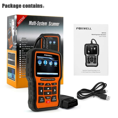 FOXWELL NT510 OBD2 Full System Diagnostic Tool ABS Airbag Oil Service Reset  For HONDA