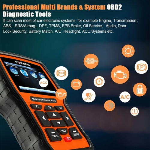 Scanners - FOXWELL NT510 OBD2 Full System Diagnostic Tool ABS Airbag