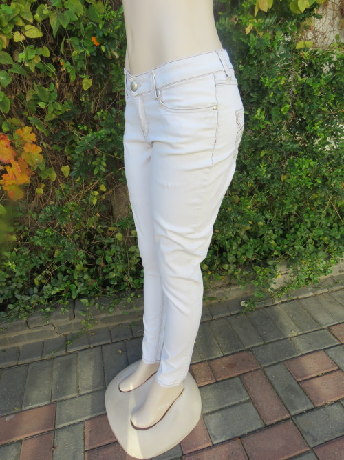 a639c9a21c6 Washed out pale blue denim stretch jeans by LEGIT low rise.Size 34 10.Skinny  legs