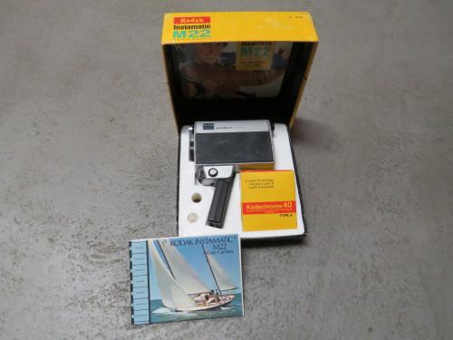 Kodak M22 Instamatic movie camera in box with empty cartridge box - Not tested