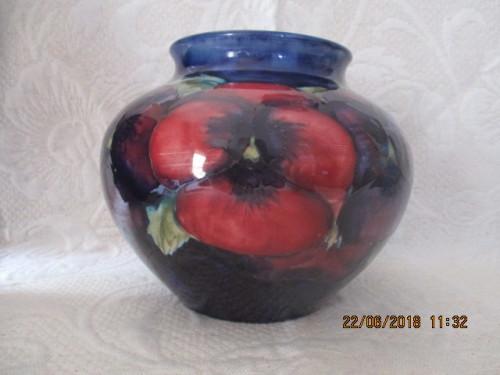 English Porcelain Moorcroft Vase 13 Cm High Circa 1950 Was