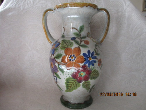 dutch porcelain large gouda holland vase virga 26 cm high