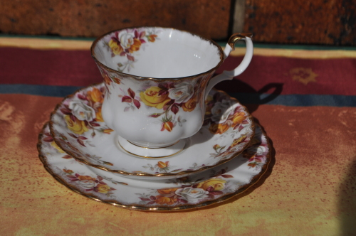 English Porcelain Royal Albert Quot Lenora Quot Trio Was Listed