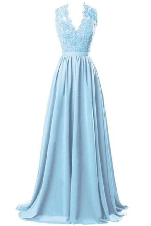 0486dcc259 *WILD ROSE* Light Blue Chiffon Bridesmaid Evening Dress - Free Shipping!