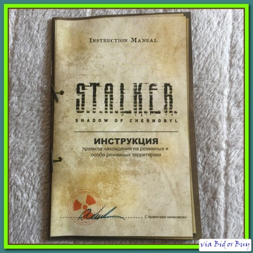 Games - PC - DVD ROM - STALKER: SHADOW OF CHERNOBYL (BOOKLET + LIC