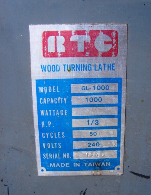 Other Power Tools - RTC Wood turning Lathe CL 1000 1/3 HP