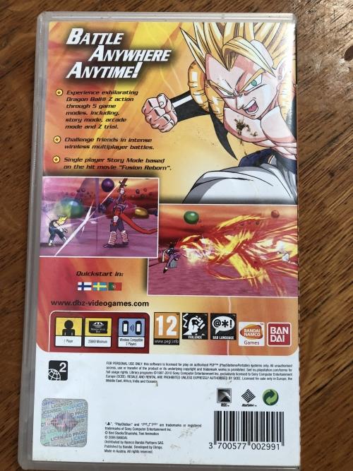 Games - PSP DragonBallz - Shin Budokai was listed for R100