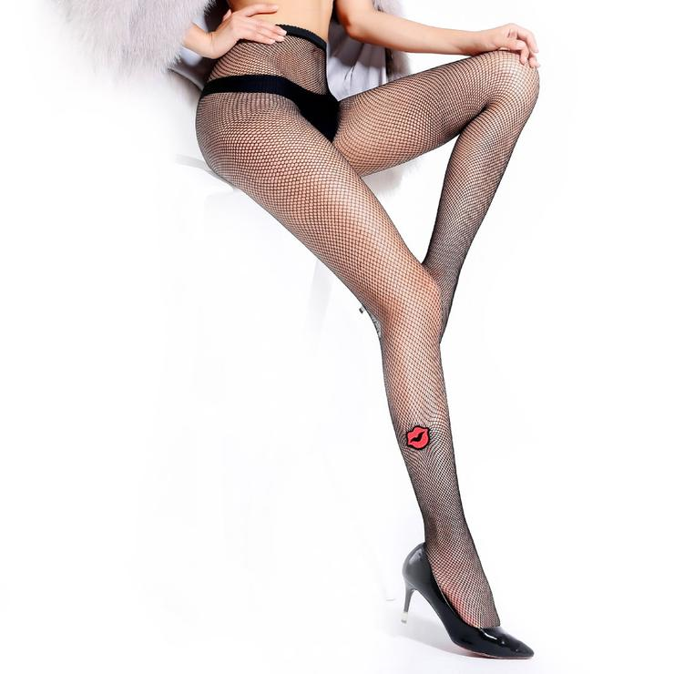14a42b67cb8 Hosiery   Socks - Fishnet Tights Embroidered Pattern Mesh Pantyhose ...