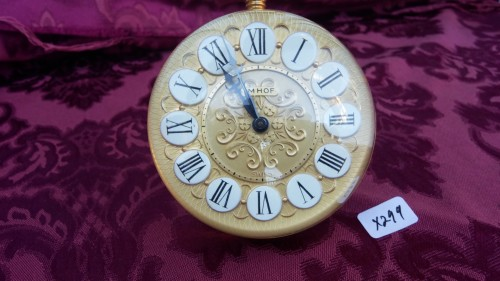 Rare Imhof Swiss 15 Jewel Desk Top Clock