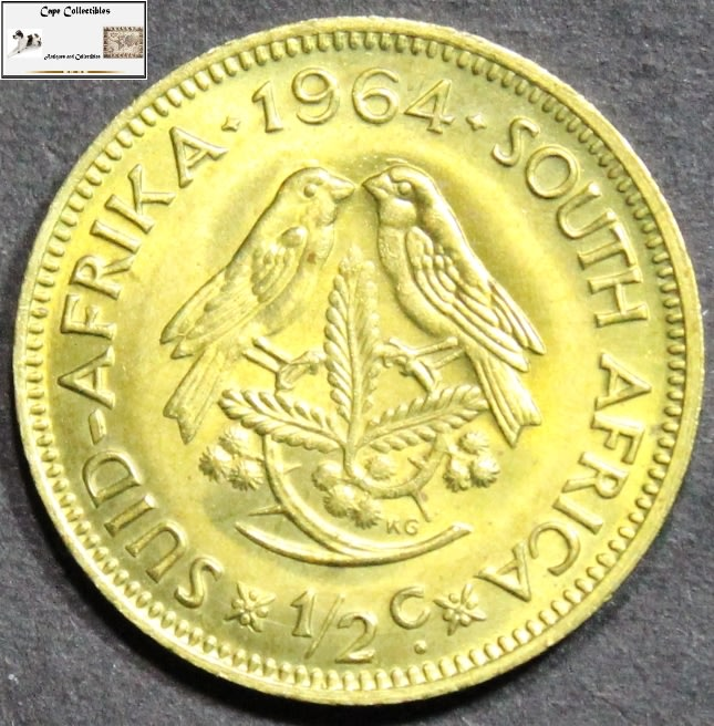 Half Cent - South Africa 1/2 Cent 1964 Coin EF40 was listed for R20