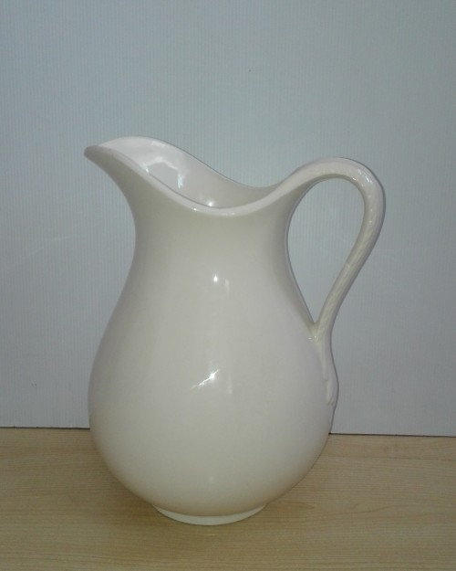 Large White Burleigh Ware Jug/Pitcher (Burslem) - Made in England
