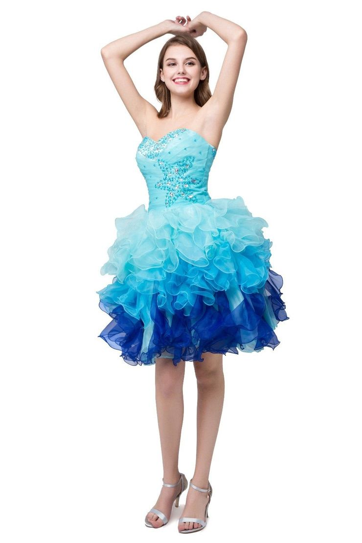 Formal Dresses Blue Mini Ball Gown Sweetheart Matric Dance Dress