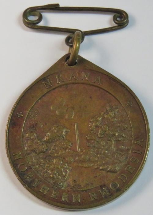 1937 Coronation of George 6 medallion NKANA Northern Rhodesia