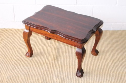 Tables A Beautiful Vintage Scalloped Edge Solid African