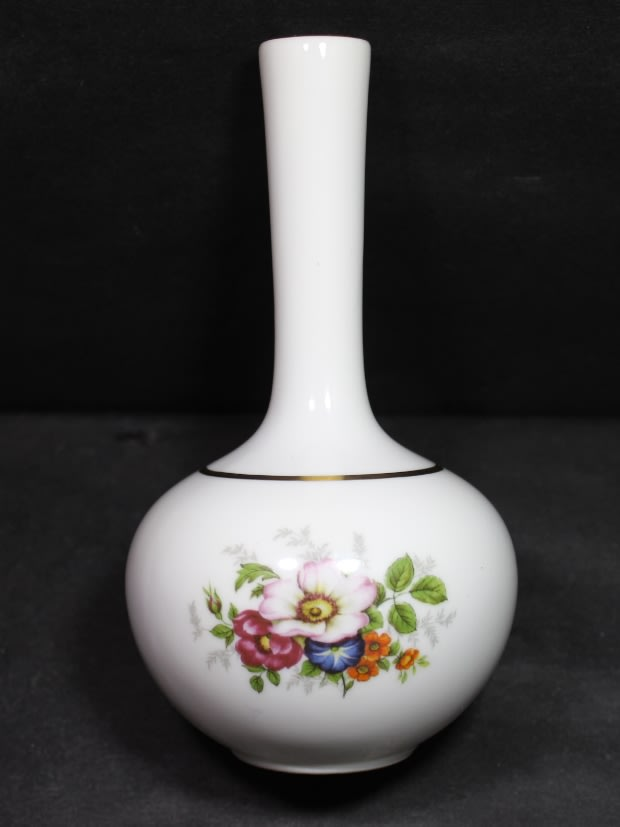 German Porcelain Bud Vase By Dresden Echles Porzellan Germany For