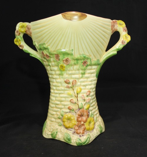 Arthur Wood Art Deco Two Handled Garden Wall Vase Art Deco Made In