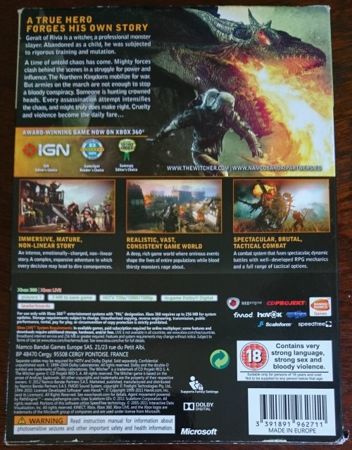 Games - The Witcher 2: Assassins Of Kings Enhanced Edition - Xbox