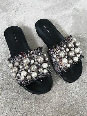 00fe7dc3f78 Sandals - ZARA PEARL SLIDES   SIZE 37 UK 4   for sale in Cape Town ...