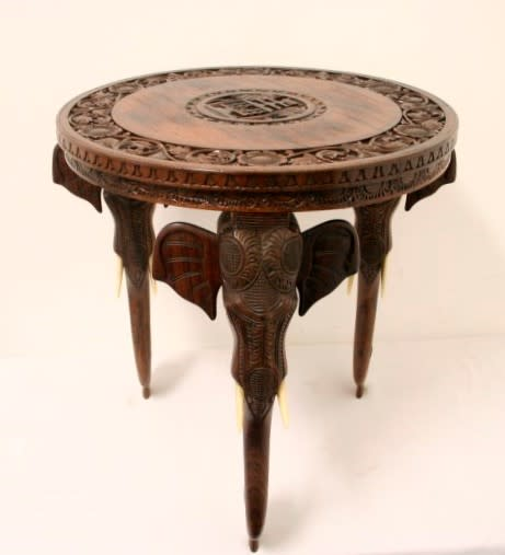 Round Coffee Tables Johannesburg: A Magnificent Round Indian Wood Occasional/ Side