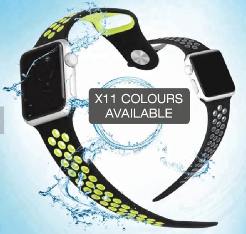 CHOOSE YOUR COLOUR Apple Watch Bands 38mm 42mm, Silicone strap band for iWatch series 1/2/3