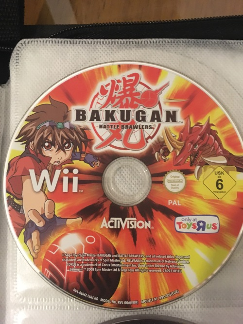 Bakugan : Battle Brawlers - Wii Game - No casing / cover - slight scratches  - working