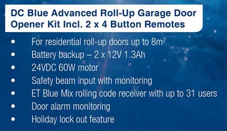 Garage Amp Gate Motors Et Dc Blue Advanced Roll Up Garage