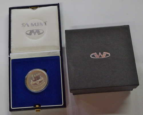 1994 RSA inauguration proof silver R1 coin in box