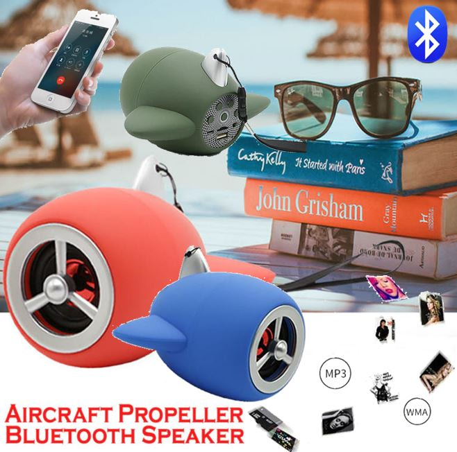 Aircraft Propeller Bluetooth Speaker with Automatic Search FM Radio, USB,  SD, AUX