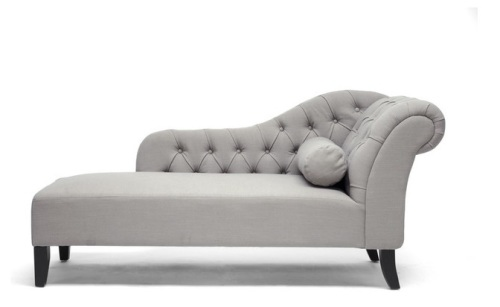 Couches Amp Chairs Baxton Studiotufted Chaise Lounge Day